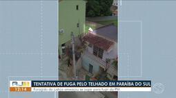 Foragido sobe em telhado, ameaça se jogar e acaba preso em Paraíba do Sul