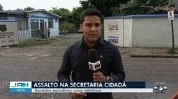 Criminosos explodem caixa eletrônico na Secretaria Cidadã, em Goiânia