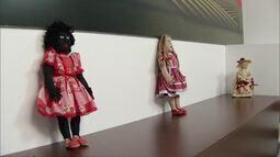 Bonecas da Casa do artesão, em Montes Claros, decoram o cenário do Inter TV Rural