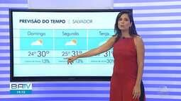 Previsão do tempo: último dia do feridão deverá ser de calor e sol forte em Salvador