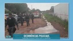 Ladrões trocam tiros com polícia