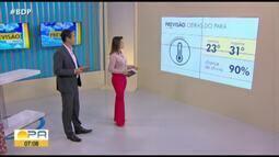 Veja a previsão do tempo em todo o Estado do Pará nesta quinta-feira, 13