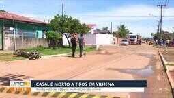 Casal é morto a tiros em Vilhena