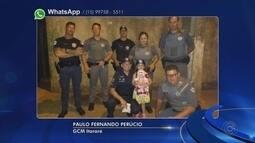Criança pede abraços de Natal para policiais e guardas em Itararé