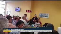 Santa Casa antecipa atendimentos e pacientes fazem fila em hospital
