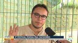 Segundo festival 'Poesia pra cachorro' é realizado em Caruaru