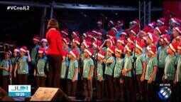 Cantata de Natal é apresentada por coral infantojuvenil na Estação das Docas