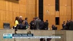 Presidente da Ales declara urgência na votação de projeto que anistia PMs grevistas no ES