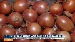 Preço da cebola subiu em média 30%
