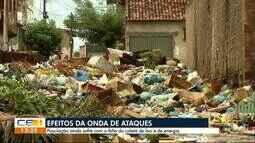 Comunidades ainda sem luz e com lixo nas ruas