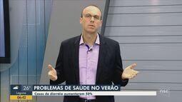 Casos de diarreia aumentam 50% em Santa Catarina durante o verão