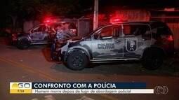 Homem morre em troca de tiros com a PM, em Goiânia