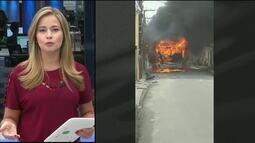 Ônibus é incendiado em mais um dia de ataques no Ceará