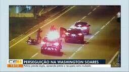 Polícia prende dupla de assaltantes e recupera carro roubado