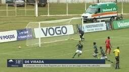 Caldense vence Boa Esporte por 2 a 1 em jogo com três pênaltis