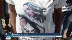 Manifestação marca audiência do caso de jovem atropelada em Praia Grande