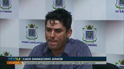 Empresa pede que Damasceno Júnior devolva carro por falta de pagamento