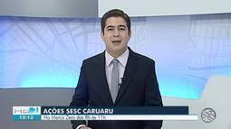 Sesc promove ações em Caruaru e Garanhuns