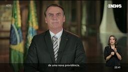 Bolsonaro faz pronunciamento à nação sobre a proposta de reforma da Previdência