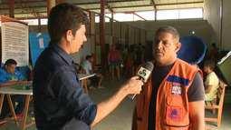 Famílias querem deixar abrigo mesmo com o Rio Juurá acima da cota de alerta
