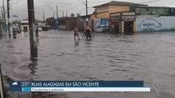 Chuva provoca pontos de alagamento em cidades da região