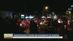 Moradores de Santo Antônio do Içá fazem manifestação contra racionamento de energia