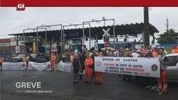 G1 em 1 minuto - Santos: Estivadores de terminais de contêineres entram em greve