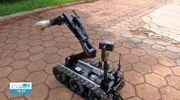 Robô ajuda nas ações antibomba em Mato Grosso do Sul