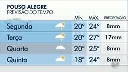 Confira a previsão do tempo para Pouso Alegre, MG