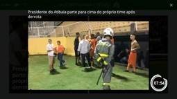 Atibaia é derrotado pela Portuguesa e presidente parte para cima do próprio time