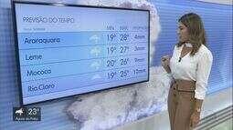 Confira a previsão do tempo para a região na quinta-feira