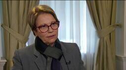 Tereza Cristina: agricultura fica um pouco receosa com mudança na OMC