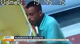 Imagens mostram assalto a lanchonete no bairro de São Marcos, em Salvador