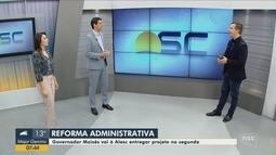 Carlos Moisés (PSL) entrega projeto de reforma administrativa na segunda-feira (25)