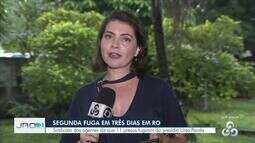 Onze presos fogem do presídio Urso Panda em Porto Velho, diz Singeperon