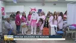 Pacientes em tratamento contra o câncer recebem ovos de Páscoa em Manaus