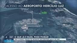 Atraso em obra de acesso ao novo aeroporto deve alterar trânsito no Sul da Ilha