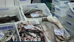 Procura por peixes aumenta movimento no Mercado Municipal de Mogi das Cruzes