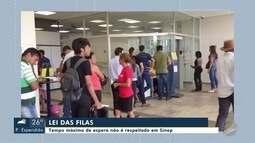 Lei das filas: tempo máximo de espera não é respeitado em Sinop