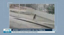 Jovem é assassinado a tiros em praça pública no bairro dos Estados, em Boa Vista
