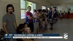 Feriado tem vacinação contra a gripe na capital