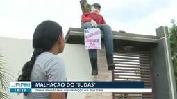 Nicolás Maduro vira boneco da malhação de Judas em Boa Vista