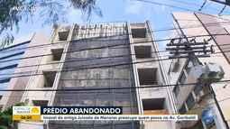 Antigo Juizado de Menores: moradores reclamam de imóvel abandonado na região da Garibaldi