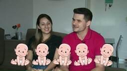 Pais ficam surpresos ao descobrirem gravidez de cinco bebês