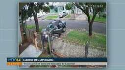 Carro de casal assaltado em frente de casa é encontrado abandonado no centro da cidade