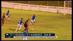 Cruzeiro e Flamengo empatam jogo de ida da Copa do Brasil sub-20 em Nova Serrana