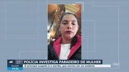 Polícia faz buscas por mulher desaparecida na Serra de SC; marido morreu em acidente