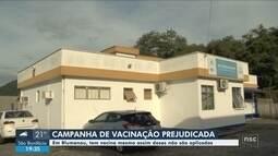 Pelo menos 3 postos de saúde de Blumenau têm falta de profissionais para aplicar vacinas