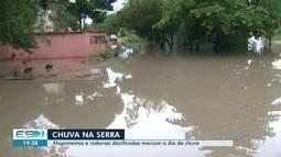 Serra registra alagamentos e redovias danificadas após chuvas na Grande Vitória
