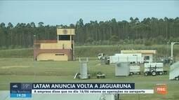 Latam anuncia retorno das operações no Aeroporto de Jaguaruna